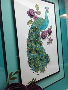 Perfect Peacock by gulfcoaststamper - Cards and Paper Crafts at Splitcoaststampers