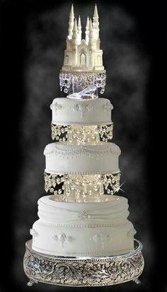i think i may have just found my cake with redVelvet inside Disney wedding cake