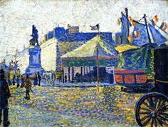 The Athenaeum - Place Clichy (Paul Signac)...I lived right next to Place Clichy in Paris, it was my metro stop!