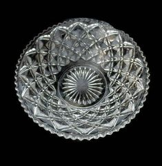 Excited to share the latest addition to my #etsy shop: Double Diamond Point Pressed Glass Crystal Bowl with Saw Tooth Edging, Clear Glass, Clear Pressed Glass, Glass Serving Bowl http://etsy.me/2FXN87j #housewares #clear #crystalbowl #saladbowl #servingbowl #pressedgla