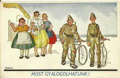 Magyar Honvéd: Kerékpáros képeslapok
