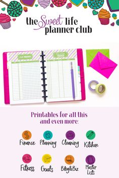 72464 Best of Organizing and Planners images in 2020 Free Planner, Happy Planner, Printable Planner, Planner Ideas, Printables, Free Printable, Planner Organization, Organizing, Home Management Binder