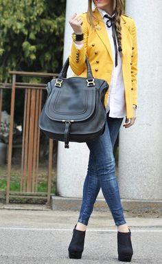 Street Chic – love the yellow blazer!
