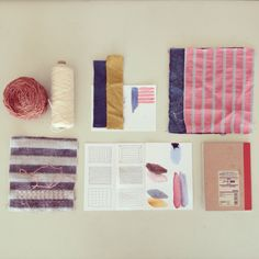 working on new home linen | studio | colors | sashiko | quilting