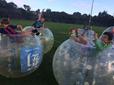 An Action Packed Sports Party - with Bubble Soccer Bubble Soccer, Sports Party, Roller Coaster, Balls, Christmas Bulbs, Bubbles, Action, Holiday Decor, Group Action