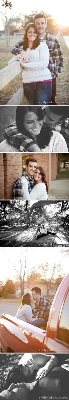 casual outdoor engagement photos with molly and kyle, college station, texas