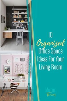 Small Living Room Office Combo Ideas - Layout of Living Room Office Space - 10 Living Room Office Ideas Clutter Organization, Small Space Organization, Home Office Organization, Industrial Home Offices, Industrial House, Declutter Your Home, Organizing Your Home, Organization Ideas, Creative Office Space