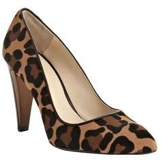 Rebecca Minkoff Cheetah Printed Calf Hair 'Steady' Pumps ($110) ❤ liked on Polyvore featuring shoes, pumps, heels, sapatos, cheetah pumps, leather sole shoes, cheetah print shoes, pointy toe high heel pumps and pony hair shoes