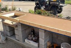 30 Amazing How To Build Outdoor Kitchen. If you are looking for How To Build Outdoor Kitchen, You come to the right place. Here are the How To Build Outdoor Kitchen. This post about How To Build Outd. Outdoor Kitchen Plans, Backyard Kitchen, Outdoor Kitchen Design, Backyard Patio, Outdoor Kitchens, Building An Outdoor Kitchen, Patio Bar, Diy Patio, Diy Concrete Countertops