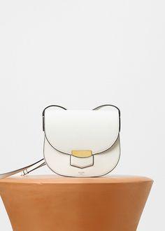 Small Trotteur Bag in Supersoft Calfskin - Céline