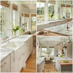 White + marble kitchen but wouldn't mix in the butcher-block top.