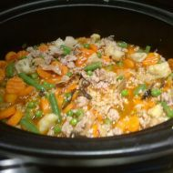 Rizoto z pomalého hrnce Fried Rice, Macaroni And Cheese, Crockpot, Fries, Vegetables, Ph, Ethnic Recipes, Food, Mac Cheese