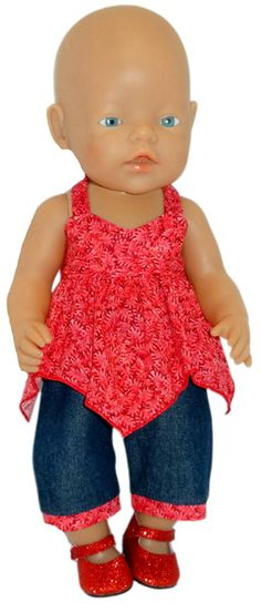 "Do you have a 17"" (43cm) baby doll that needs some new clothes but you can't find a pattern that will fit her? Well many of my 18"" doll clothes patterns and a couple of my 18 1/2"" Cabbage Patch doll clothes patterns will fit the Baby Born doll and dolls with similar measurements. To see which patterns fit just as they are and which patterns need only small adjustments come and read my latest blog."