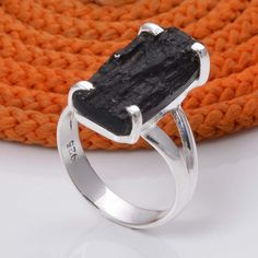 LATEST 925 SOLID STERLING SILVER TECKTITE DRUZY HOT RING 3.97g DJR5019 #Handmade #Ring