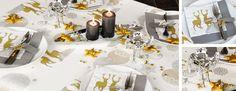 Tischdekoration zu Weihnachten und Advent Silber trifft Gold bei Tischdeko-Shop.de