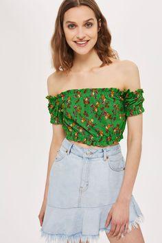Floral Gypsy Crop Top - Topshop