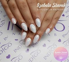 by Izabela Stanek Indigo Young Team :) Find more inspiration at www.indigo-nails.com #nailart #nails #indigo #white #mermaid #syrenka #effect