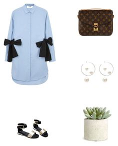 """""""Grace"""" by zoechengrace on Polyvore featuring MSGM, Louis Vuitton, Allstate Floral and Salvatore Ferragamo"""