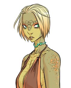 """Sophie Campbell on Twitter: """"A new pic of Kex, my yuan-ti monk/rogue character.… """""""