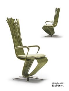 FUNCTION AND COMFORT. Kenneth Cobonpue added armrests and wheels to his Yoda chair design, and turned it into a swivel chair. The chairs were used at the 2015 APEC Economic Leaders' Welcome Dinner at the MOA Arena, Philippines. He added that the leaders can bring home their Yoda chair after the event if they wish to do so. | Photo courtesy of Kenneth Cobonpue