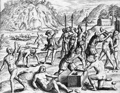 Napituca Massacre - 1539 - After defeating resisting Timucuan warriors, Hernando de Soto had 200 executed, in the first large-scale massacre by Europeans on what became American soil.