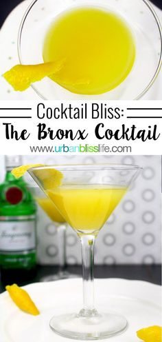 Once a Presidential favorite, the Bronx Martini cocktail is a sweet and sassy drink you can enjoy any time of day. Easy Mixed Drinks, Mixed Drinks Alcohol, Drinks Alcohol Recipes, Cocktail Recipes, Wine Recipes, Hard Drinks, Fun Drinks, Beverages, Smoothie Drinks