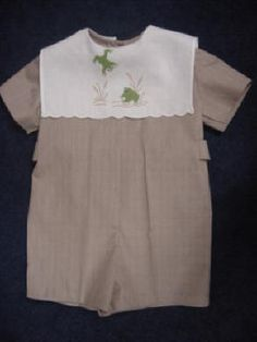 Boy idea. Cr by Michie pattern #113 with hankie collar