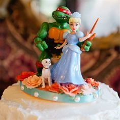 Ninja Turtle and Princess Cake Topper.  If this doesn't describe me and Al, I don't know what does!