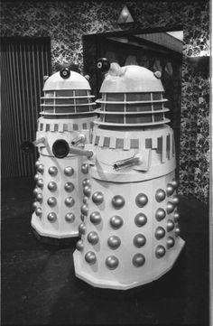 Doctor Who: Revelation of the Daleks Rare RT images on location - Two Daleks at Tranquil Repose (Studio TC1, BBC TV Centre, Jan 1985) Photographed by Don Smith