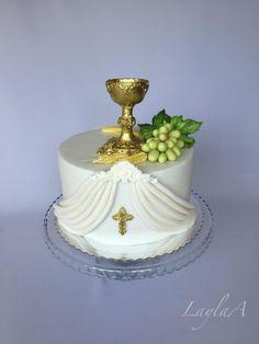 1st communion cake  by Layla A