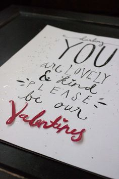 Valentine's Day Card by Allison Freund, via Behance