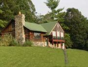 Mountain log cabin.
