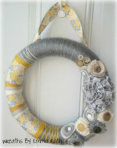 Awesome gray and yellow wreath.