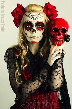 Sugar Skull Art. Day of the Dead.
