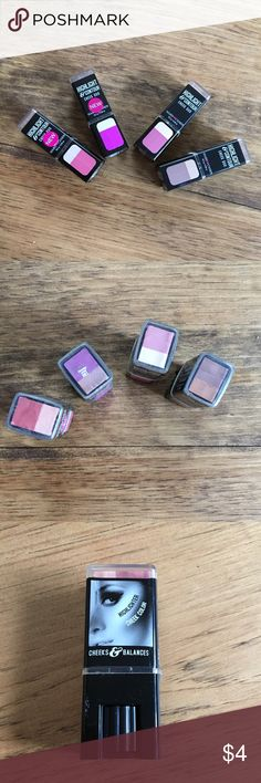 Cheeks and Balances highlighter and cheek color Hard Candy highlight and contour cheek duo! From left to right colors are Sweet Cheeks (805), Blooming Orchid (861), Cheeky Pink (767) and Sunkissed (768). Listed price is for one only, please use the comments to indicate your color choice 😊 Hard Candy Makeup Blush