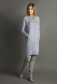 Viola Stils - LOS Knitwear ( Lack of Seams Knitwear. Sweater Dress Outfit, Knit Dress, Knit Fashion, Fashion Outfits, Winter Dresses, Pulls, Knitwear, Knitting Patterns, Knit Crochet
