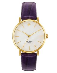 Ladies' Metro Gold-Tone & Leather Watch | Lord and Taylor