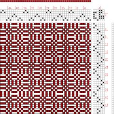 Hand Weaving Draft: Forward, Figure 262, Donat, Franz Large Book of Textile Patterns, 6S, 6T - Handweaving.net Hand Weaving and Draft Archive