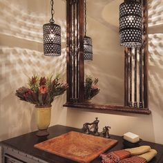 Powder Room Modern Tuscan Home Design, Pictures, Remodel, Decor and Ideas