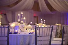An Elegant Purple and White Wedding