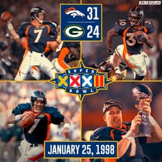 Super Bowl XXXII - After being 0-4 in Super Bowls, this was a great day in Broncos Country!