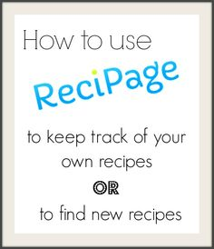 How to use Recipage to find new recipes or keep track of your own food blog's recipes [Amuse Your Bouche]