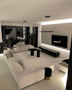 Home Room Design, Dream Home Design, Modern House Design, Home Interior Design, Living Room Designs, Small Living Rooms, Living Room Modern, Living Room Decor, Accent Walls In Living Room
