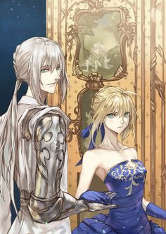 Fate/Grand Order || Artoria Pendragon (Saber) || Bedivere (Saber) || イブニング by yepnean