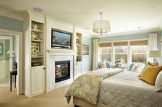 Single Cabinet On Either Side Of Fireplace Design Ideas, Pictures, Remodel, and Decor - page 8