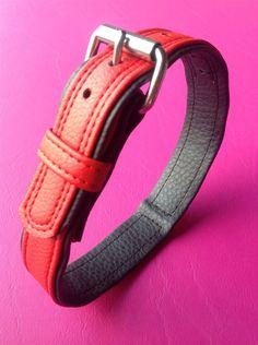 rot auf schwarz, 4 cm breit, extra robust