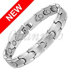 Find More Chain & Link Bracelets Information about 2016 Men Free Shipping Jewellery Gift All Silver Bio 16pcs Magnets Bangle Magnetic Bracelet Stainless Steel Fast Hong Kong Post,High Quality jewellery dolls,China jewellery tool Suppliers, Cheap bracelet components from Channah Store on Aliexpress.com Cheap Bracelets, Link Bracelets, Bracelets For Men, Jewelry Tools, Jewelry Gifts, Jewelry Accessories, China Jewelry, Jewellery Display