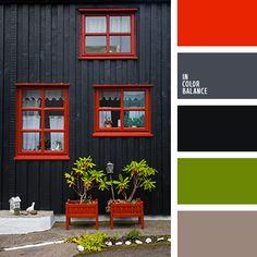 алый, бледный зеленый, графитовый серый, зеленый, коричневый, красный, насыщенный красный, подбор цвета, серо-коричневый, серый, темно серый, черный.