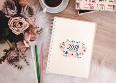 Quer ter uma planner 2018 lindo de graça? Então confere esse post que estou disponibilizando um planner 2018 para imprimir super completo.