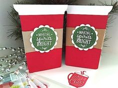 VIDEO TUTORIAL - Starbucks Gift Card Holder - www.SimplySimpleStamping.com - look for the December 17, 2015 blog post